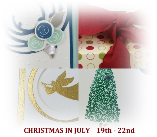 collage for Christmas in July