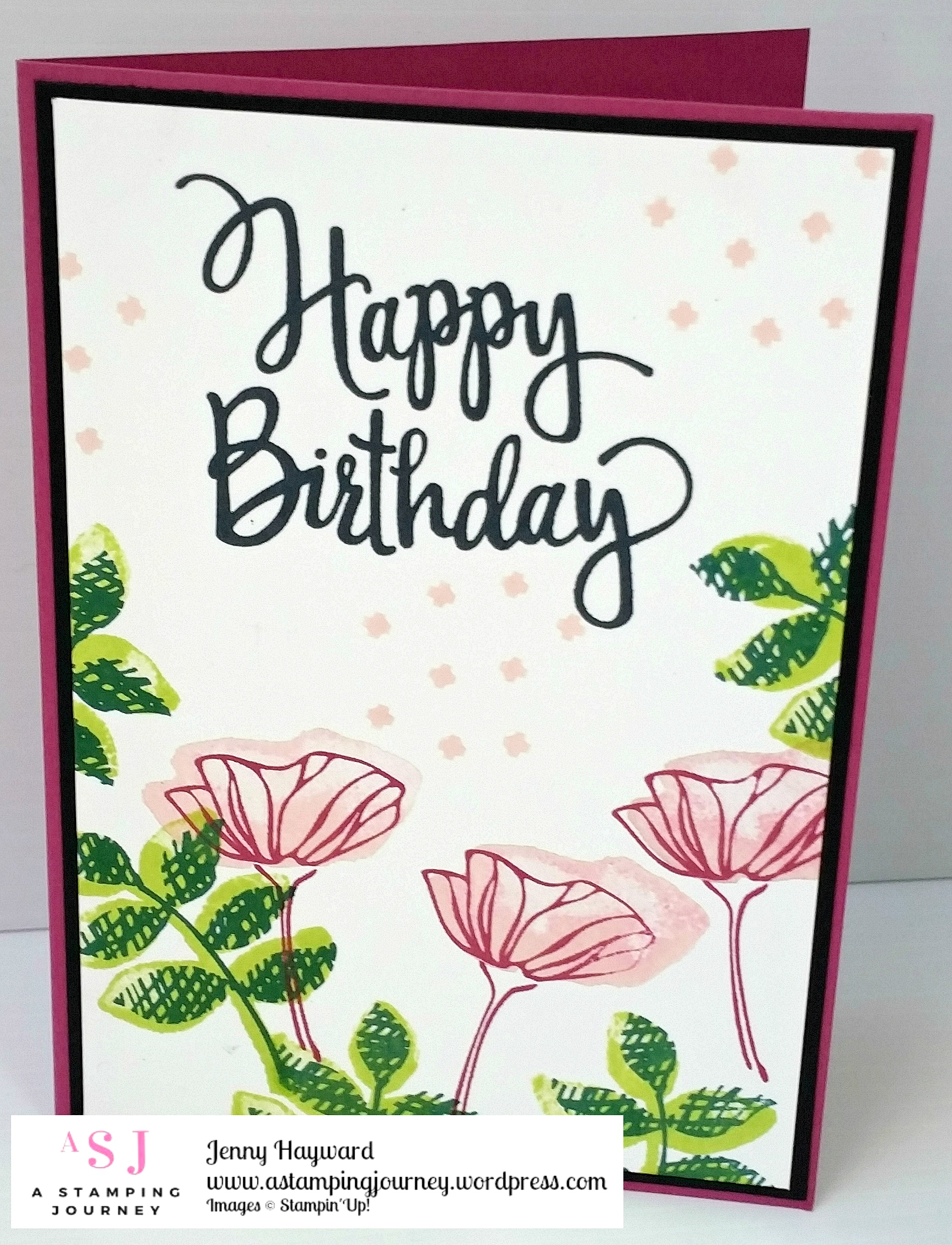 Eclectic Happy Birthday A Stamping Journey