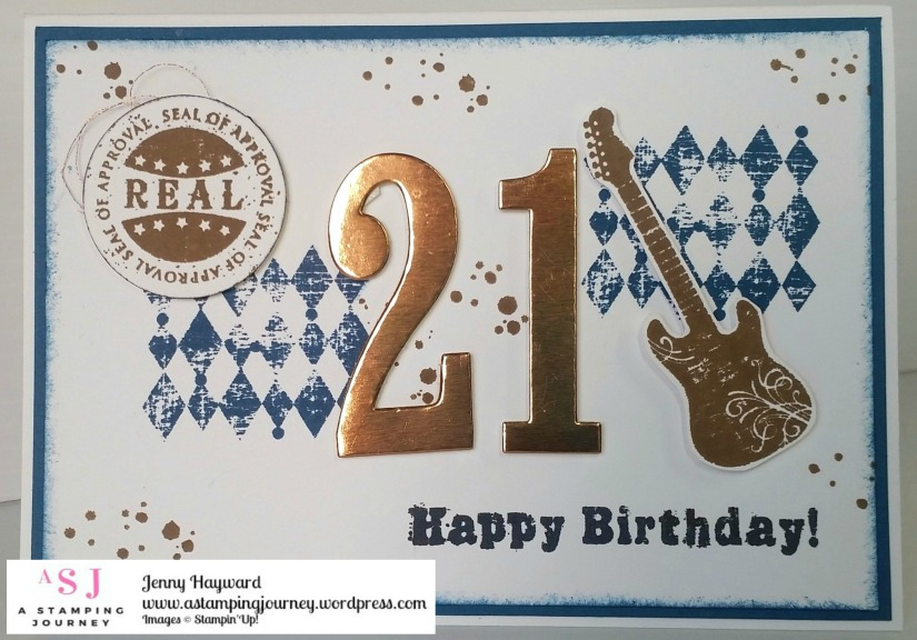 A Grunge 21st Birthday Card A Stamping Journey