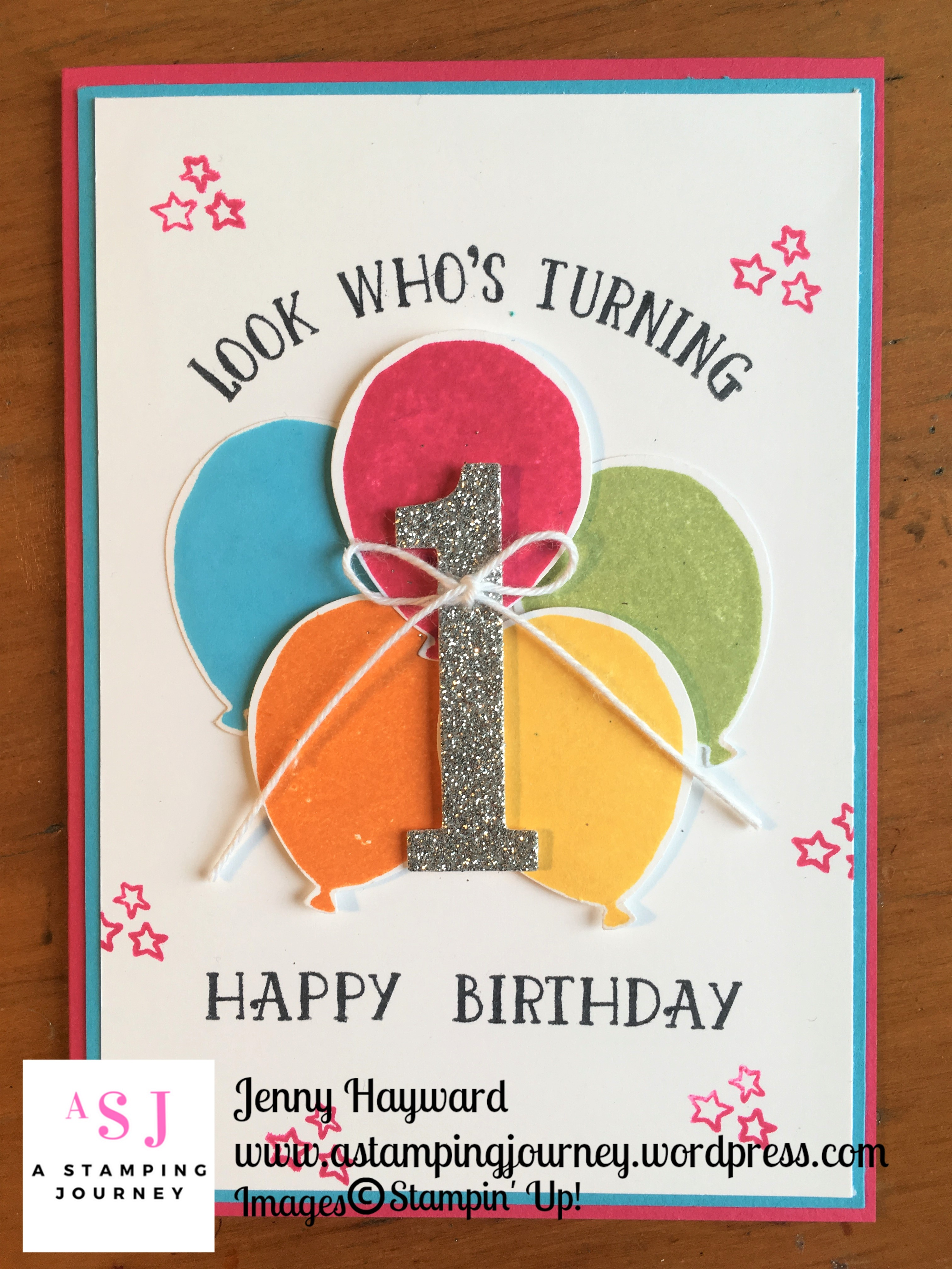 Happy 1st Birthday Card A Stamping Journey