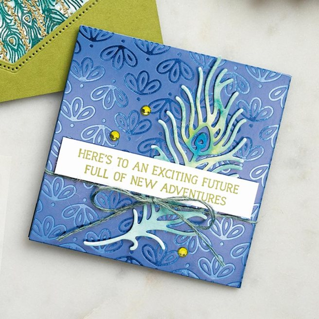 Stampin' Up! Noble Peacock card