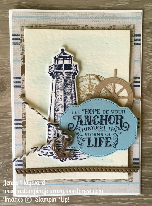 Sailing Home Onstage card