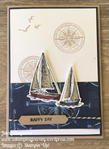 Two Sailing Boats with Stampin' Up! Sailing Home