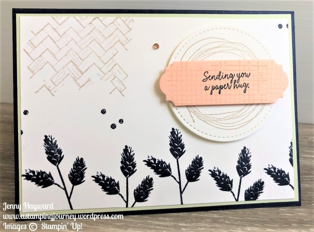 A paper hug with Comfort and Hope stamp set
