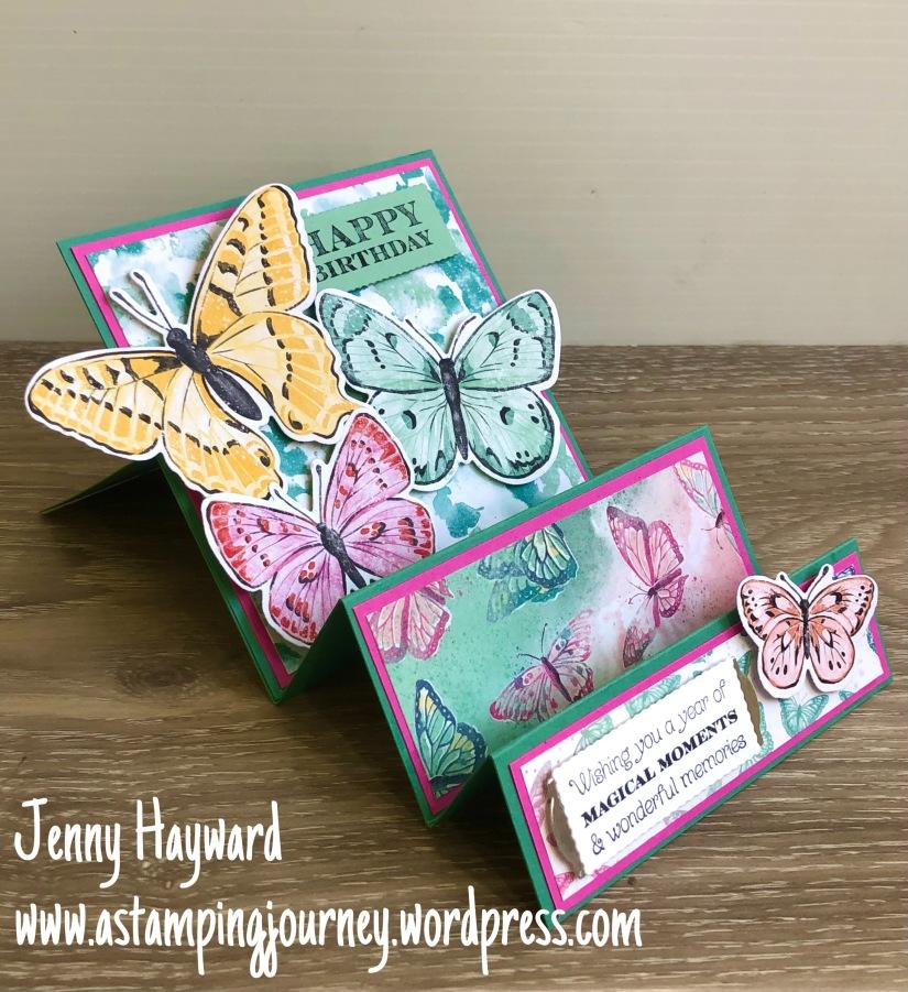 Single Step Butterfly Bijou Card